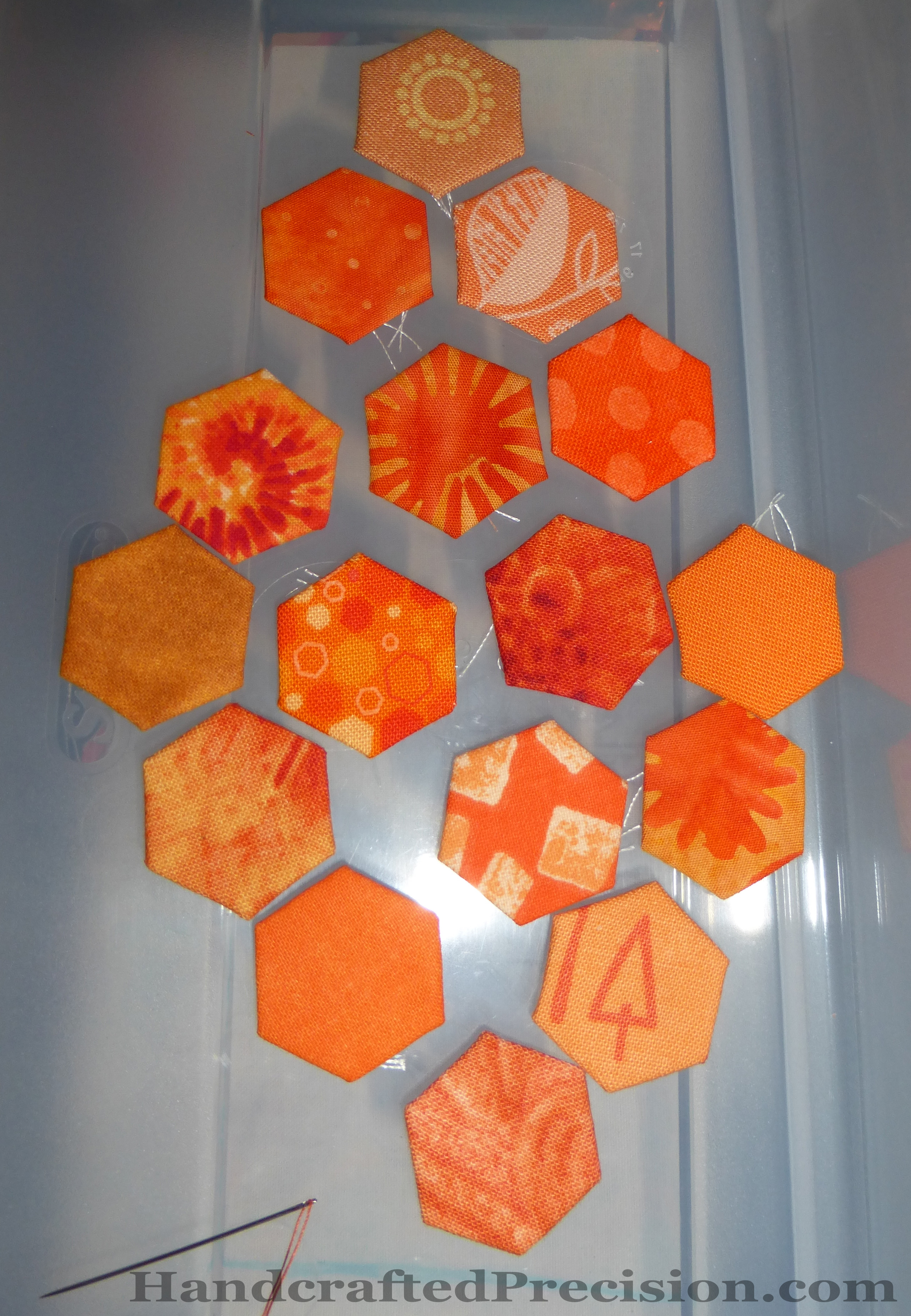 Orange Hexagons HP