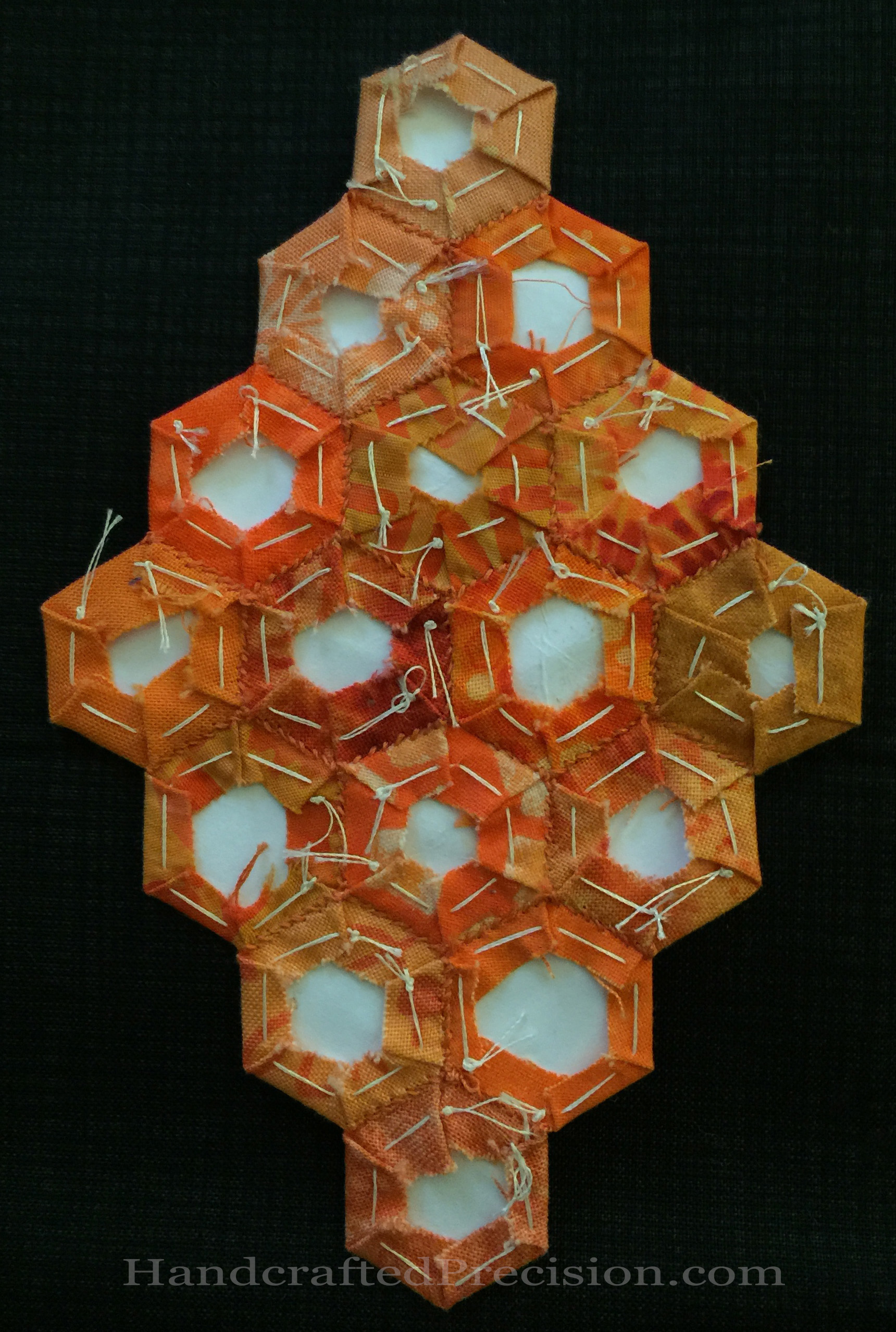 Orange Hexagon Diamond Back