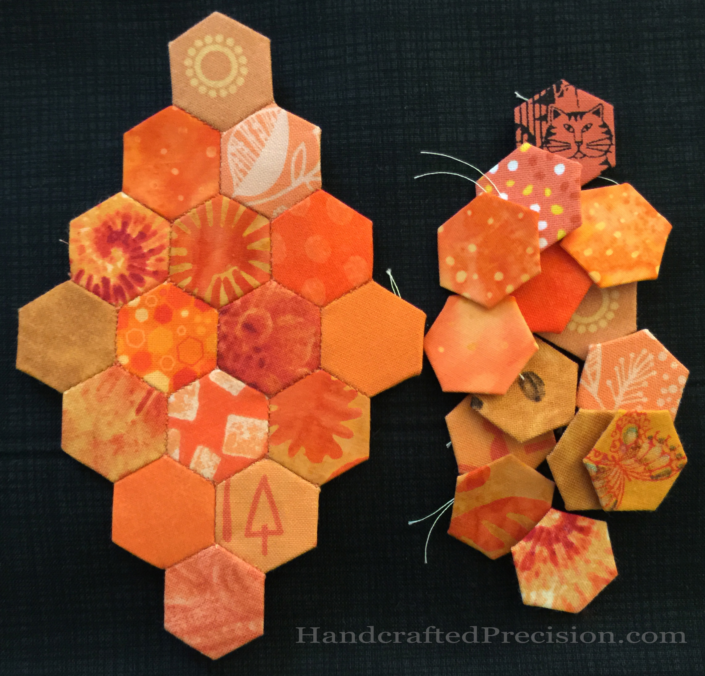 Orange Hexagon Diamond Front with Spares