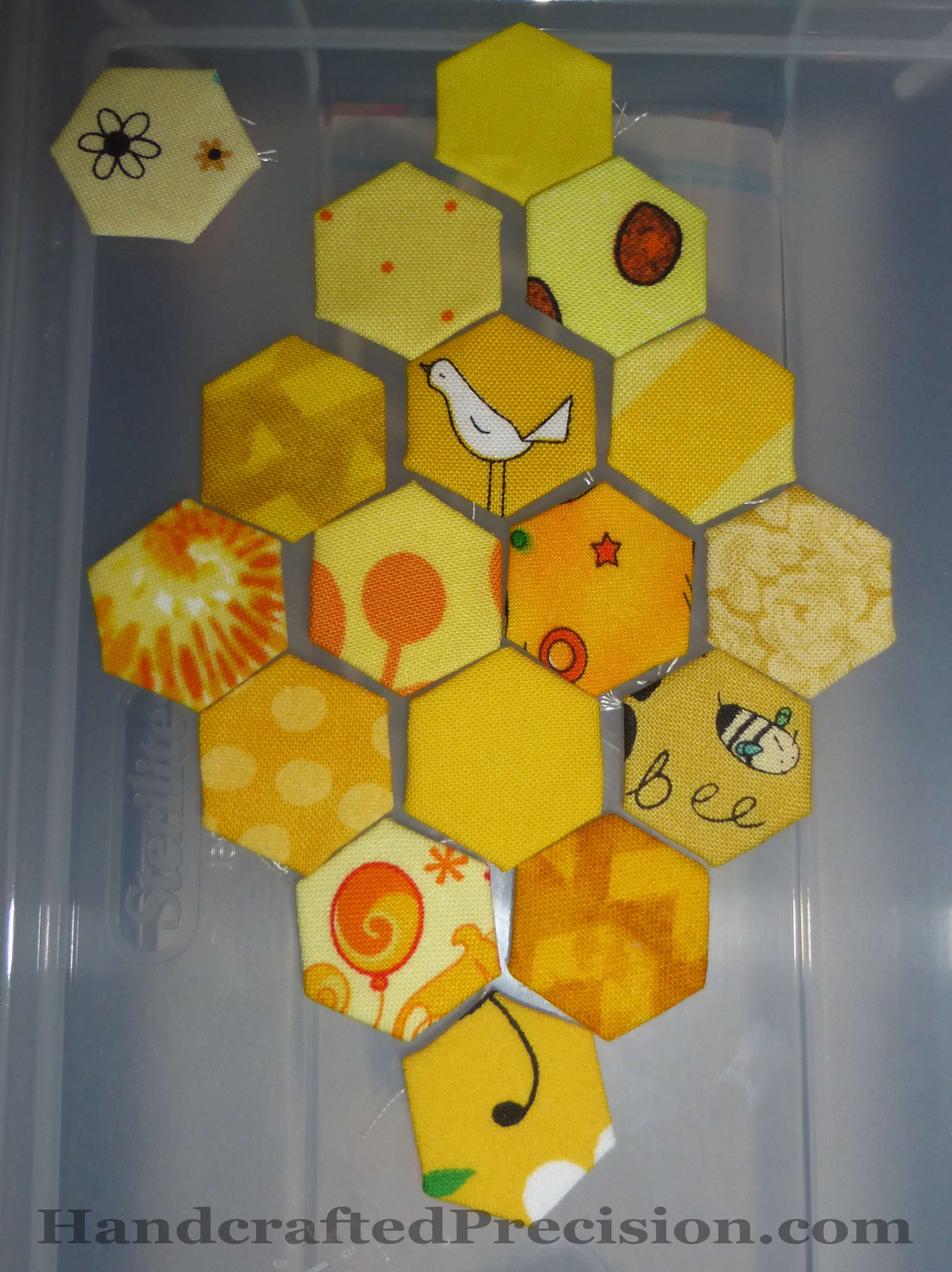 Yellow Hex Diamond Layout