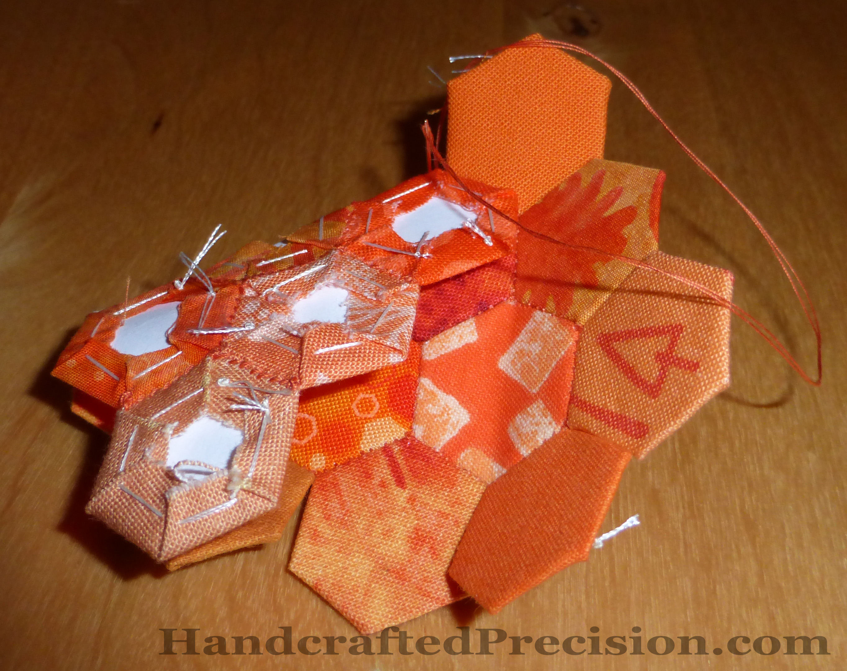 Orange Hex Diamond Progress