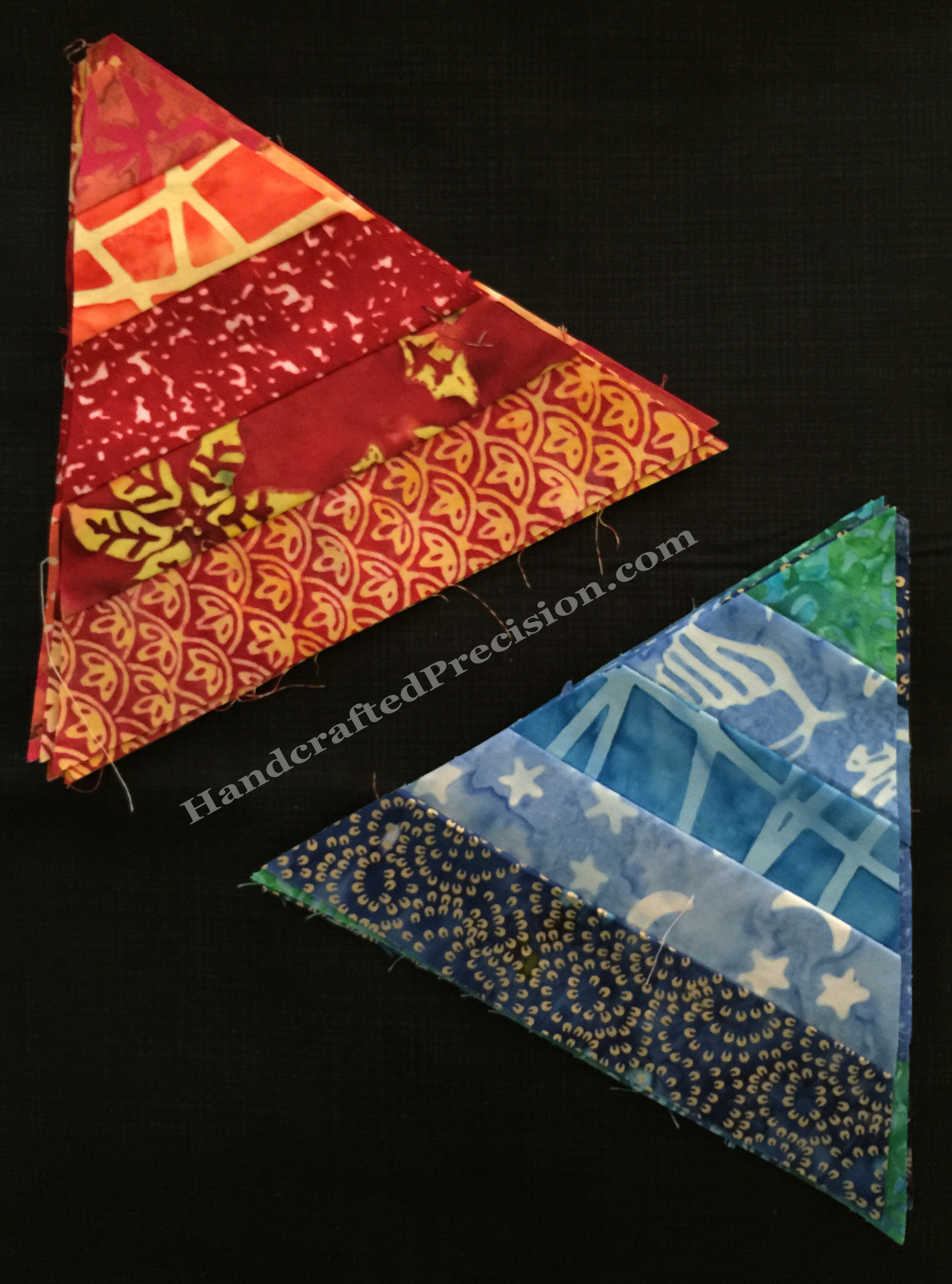 Pieced Triangles Warm & Cool HP