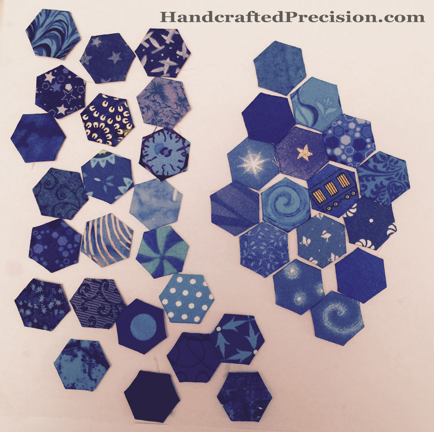 Medium Blue Hexagon Diamond HP