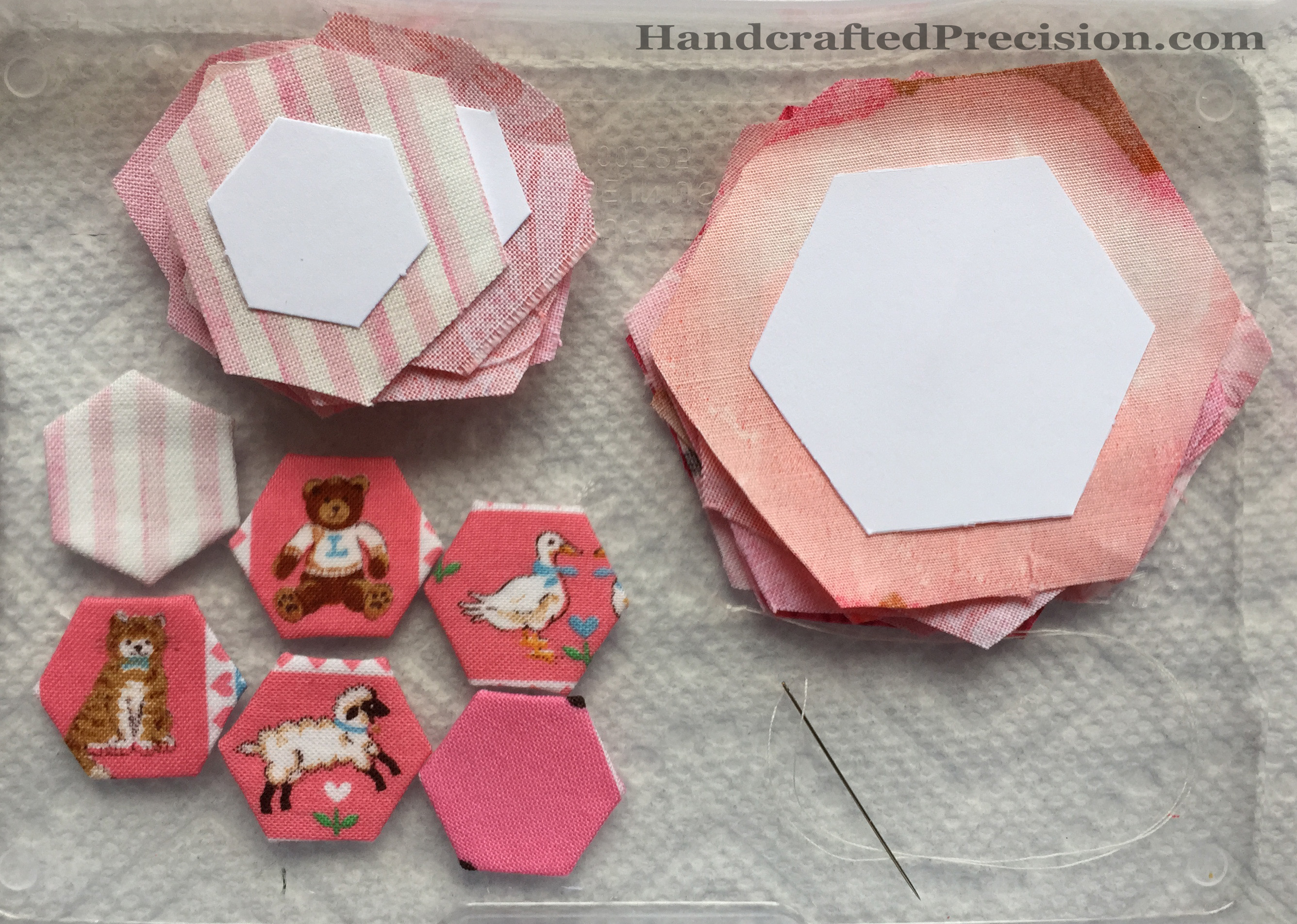 Pink Hexagons Cut HP